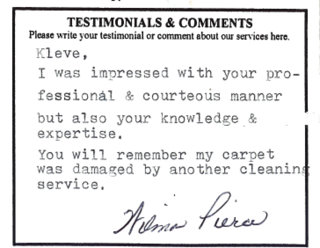 Testimonial from another satisfied customer